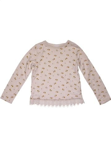 Long sleeve T-shirt girl F&F pink 9 years winter #28053_1