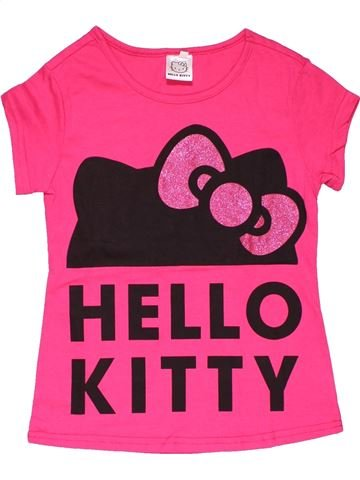 Short sleeve T-shirt girl HELLO KITTY pink 9 years summer #28222_1