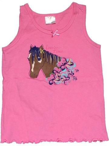 Sleeveless T-shirt girl NO BRAND pink 6 years summer #28377_1