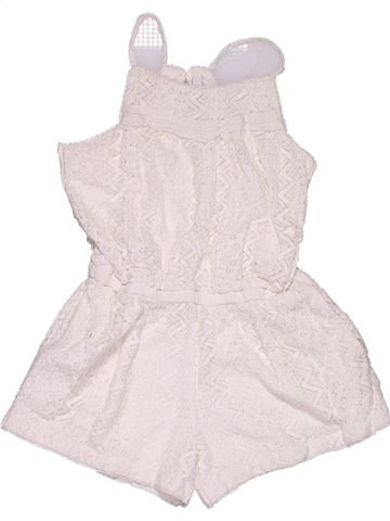 Short jumpsuit girl MARKS & SPENCER white 6 years summer #28623_1