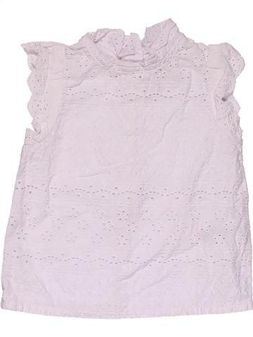 Short sleeve blouse girl NEXT white 6 months summer #28790_1