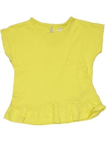 Short sleeve T-shirt girl MARKS & SPENCER yellow 5 years summer #29099_1