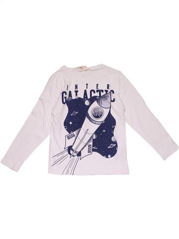 Long sleeve T-shirt boy H&M white 6 years winter #29115_1