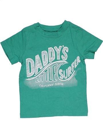 Short sleeve T-shirt boy NUTMEG green 18 months summer #29124_1