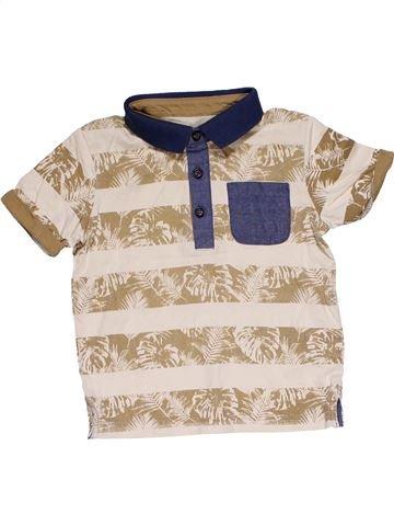 Short sleeve polo shirt boy MATALAN beige 2 years summer #29197_1