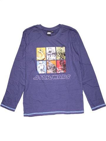 Long sleeve T-shirt boy STAR WARS purple 14 years summer #29380_1