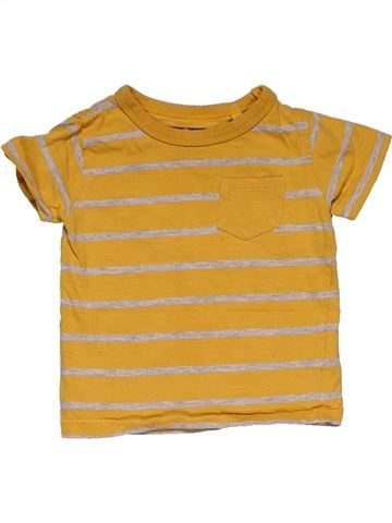 Short sleeve T-shirt boy NEXT yellow 9 months summer #29393_1
