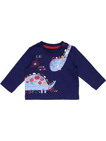Long sleeve T-shirt boy TU blue 1 month winter #29759_1