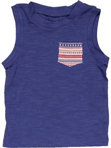Sleeveless T-shirt boy F&F blue 9 months summer #30026_1