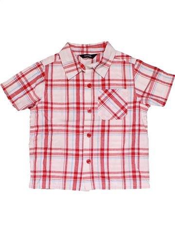 Short sleeve shirt boy GEORGE white 2 years summer #30333_1