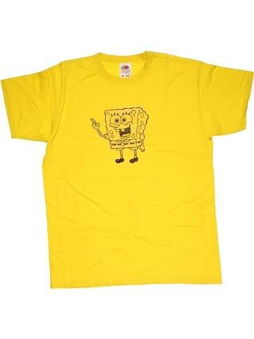 Short sleeve T-shirt boy FRUIT OF THE LOOM yellow 12 years summer #30391_1