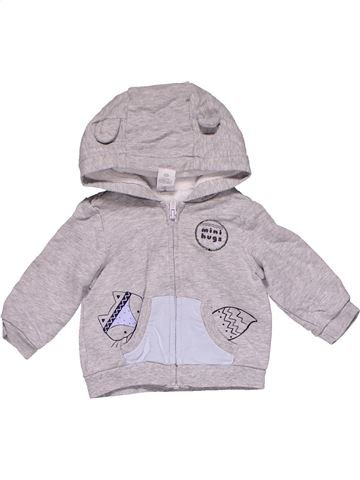 Sweatshirt boy BABY CLUB gray 3 months winter #30409_1