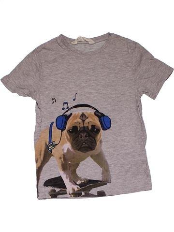 Short sleeve T-shirt boy H&M gray 6 years summer #31103_1