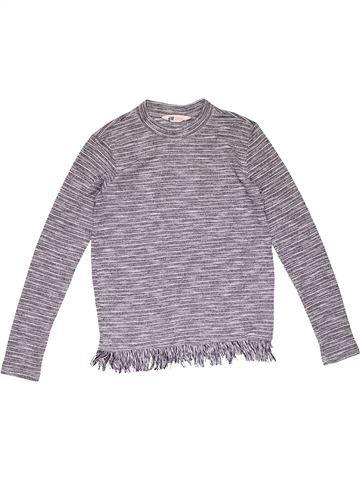 Long sleeve T-shirt girl H&M gray 14 years summer #31150_1