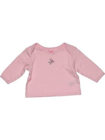 Long sleeve T-shirt girl LITTLE ME pink 3 months summer #31265_1