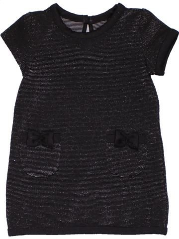 Dress girl YOUNG DIMENSION black 18 months summer #31352_1