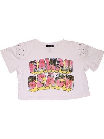 Short sleeve T-shirt girl NEW LOOK white 11 years summer #31412_1