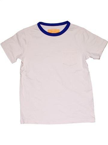 Short sleeve T-shirt boy CREWCUTS white 8 years summer #31514_1