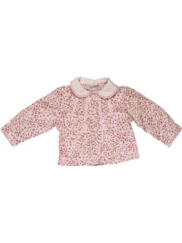 Long sleeve blouse girl COCCODRILLO pink 3 months summer #31581_1