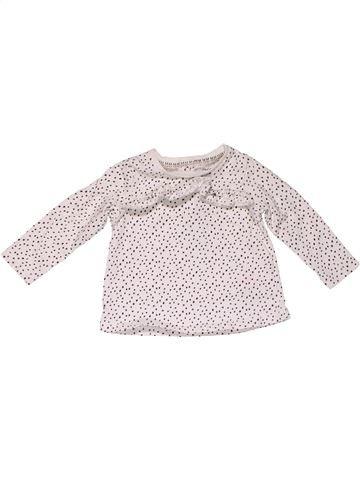 Long sleeve T-shirt girl F&F white 6 months summer #31621_1