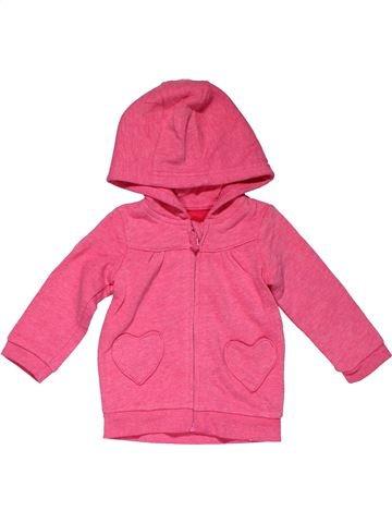 Sweatshirt girl GEORGE pink 9 months winter #31662_1
