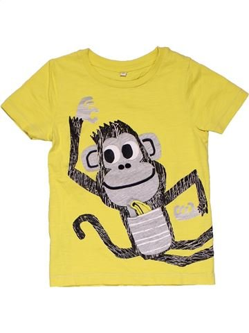 Short sleeve T-shirt boy MARKS & SPENCER yellow 3 years summer #31687_1