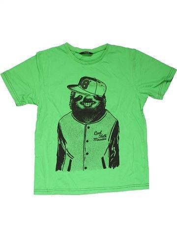 Short sleeve T-shirt boy GEORGE green 11 years summer #31737_1