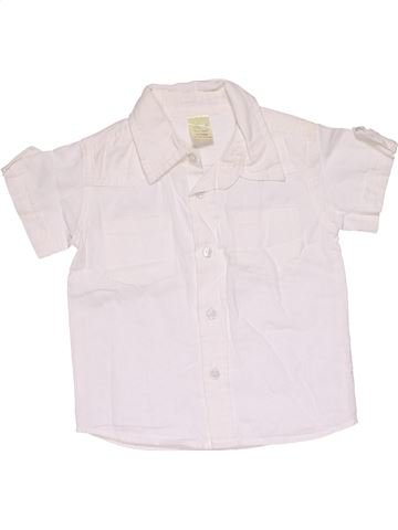 Short sleeve shirt boy TINY TED white 4 years summer #31806_1