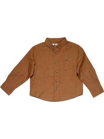 Long sleeve shirt boy MATALAN brown 3 years winter #31840_1