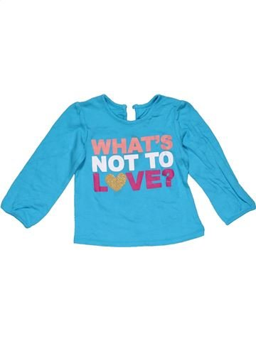 Long sleeve T-shirt girl GEORGE blue 18 months winter #31918_1