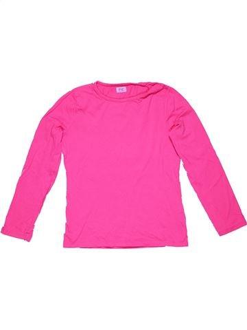 Long sleeve T-shirt girl F&F pink 11 years winter #32238_1