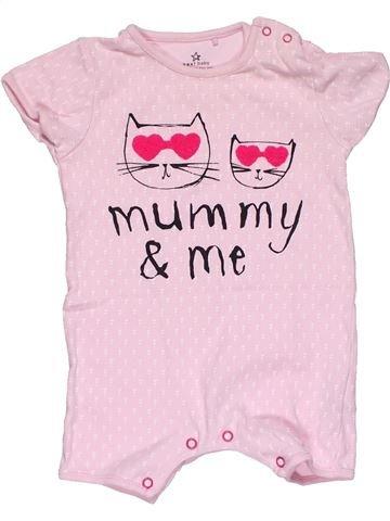 Short jumpsuit girl NEXT pink 9 months summer #32355_1