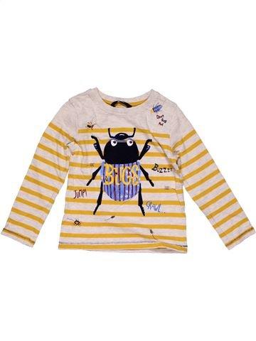Long sleeve T-shirt boy GEORGE beige 4 years winter #32364_1