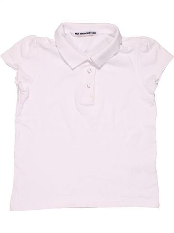 Short sleeve polo shirt boy MIA BRATHERTON white 7 years summer #3238_1