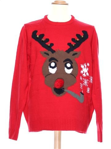 Man Xmas jumper man CEDAR WOOD STATE XL winter #36954_1