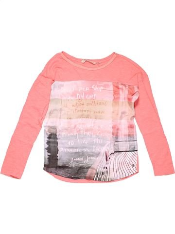 Long sleeve T-shirt girl GARCIA JEANS pink 13 years summer #4454_1