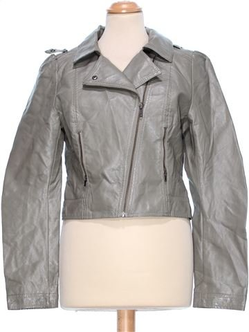 Synthetic Leather Jacket woman H&M UK 8 (S) winter #46258_1