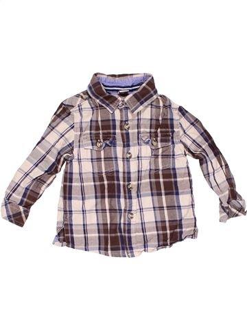 Long sleeve shirt boy TU purple 18 months winter #4658_1
