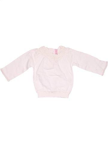 Long sleeve T-shirt girl NEWBORN white 1 month winter #5275_1