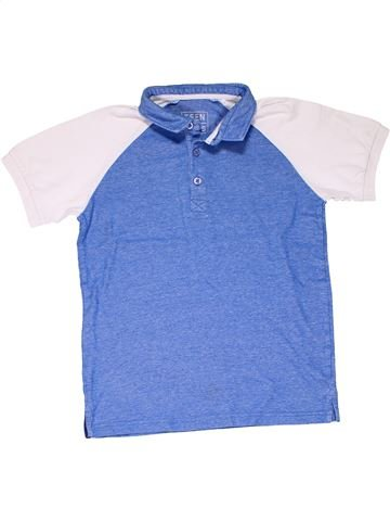 Short sleeve polo shirt boy TEEN BOYS blue 10 years summer #5499_1