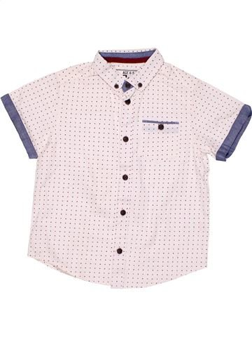 Short sleeve polo shirt boy AUTHENTIC white 5 years summer #5777_1