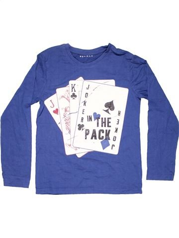 Long sleeve T-shirt boy NUTMEG blue 11 years summer #5852_1