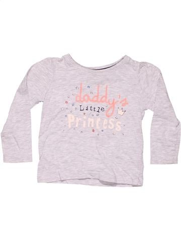 Long sleeve T-shirt girl YOUNG DIMENSION white 18 months summer #5870_1
