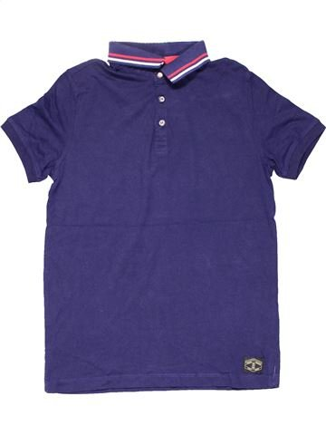 Short sleeve polo shirt boy RIVER ISLAND purple 8 years summer #6010_1