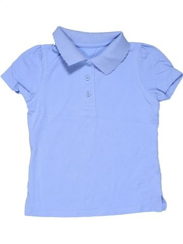 Short sleeve polo shirt girl BACK TO SCHOOL blue 5 years summer #6447_1