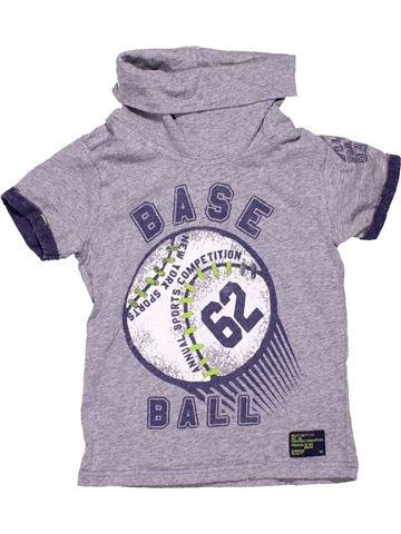 Turtleneck T-shirt boy WED'ZE purple 6 years summer #6589_1