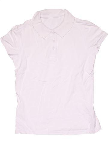 Short sleeve polo shirt boy NO BRAND white 10 years summer #6641_1