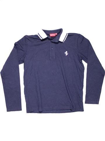 Long sleeve polo shirt boy FERRARI purple 10 years winter #6850_1