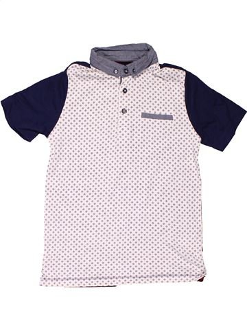 Short sleeve polo shirt boy NUTMEG white 9 years summer #6928_1