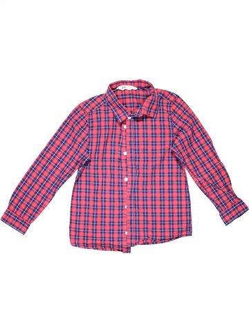 Long sleeve shirt boy H&M pink 8 years summer #774_1